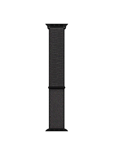 Microsonic Apple Watch SE 44mm Hasırlı Kordon Woven Sport Loop Siyah